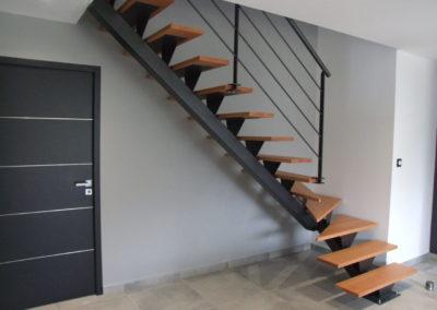 Escaliers en métal et en bois, Brest Loperhet
