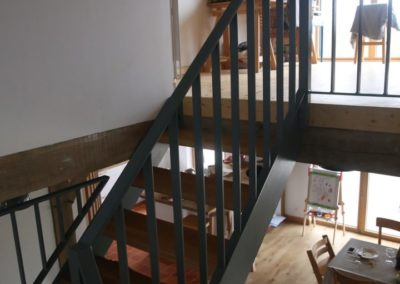 escalier fer marche chene logonna daoulas 3 - Escaliers
