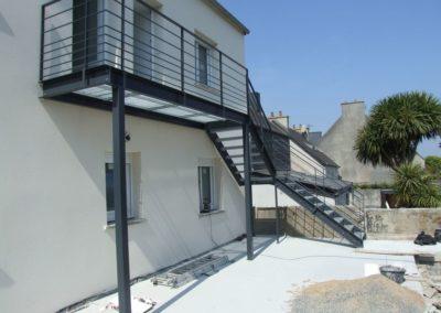 escalier passerelle lesneven - Escaliers