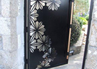 portillon motifs fleurs lesneven - Portails